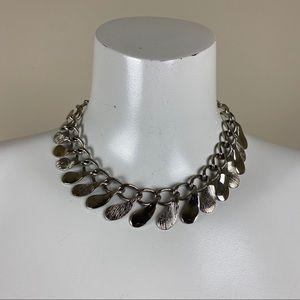 Vintage Silver Choker Length Necklace